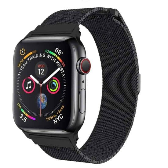 Viljar Milanese Apple Watch fémszíj fekete