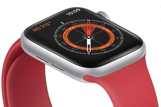 Apple Watch Series 5 iránytű