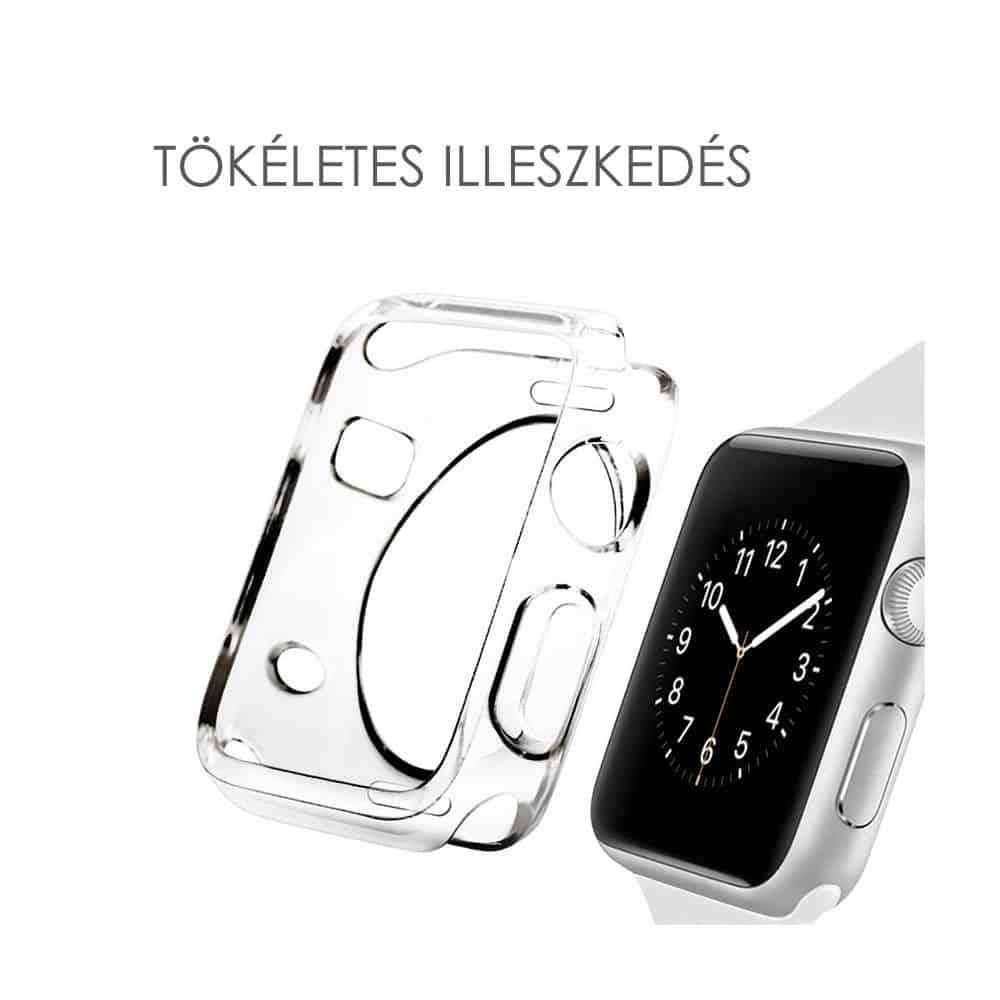 Apple Watch szilikon védőtok átlátszó