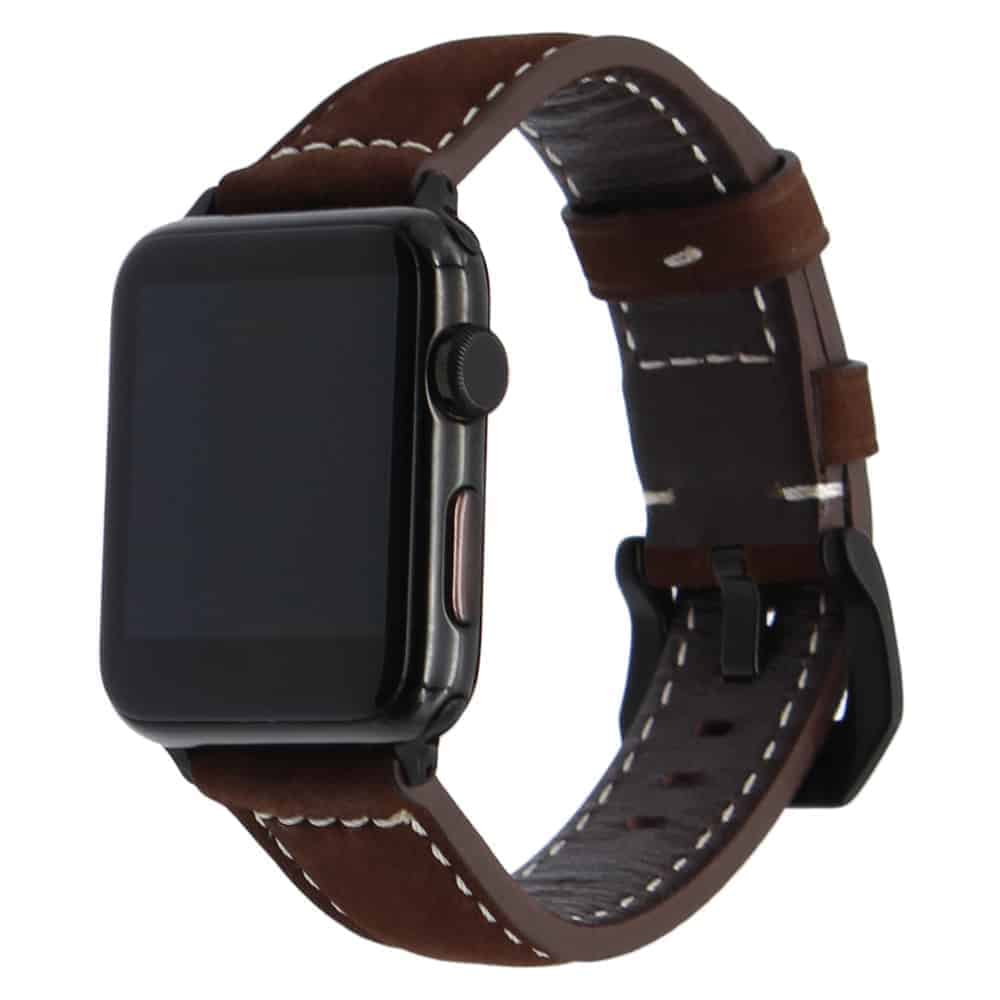 Viljar Brown Style Apple Watch bőrszíj Barna