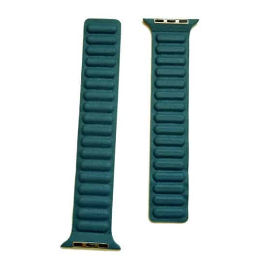 Viljar Leather Link Apple Watch bőrszíj petrolkék