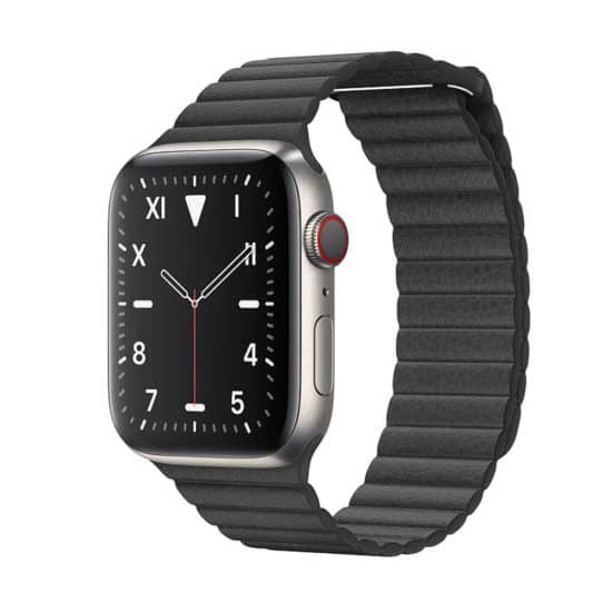 Viljar Loop Apple Watch bőrszíj fekete